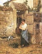 Peasant Girl and Doves