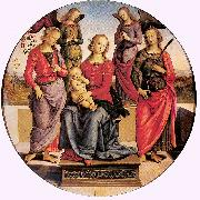 Madonna Enthroned with Child and Two Saints