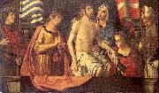Palmezzano, Marco The Dead Christ in the Tomb with the Virgin Mary Saints oil painting picture wholesale