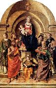 Palmezzano, Marco Virgin and Child Surrounded by Saints oil painting picture wholesale
