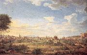 Panini, Giovanni Paolo View of Rome from Mt. Mario, In the Southeast oil painting picture wholesale