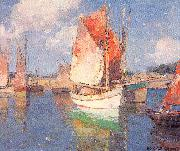 Payne, Edgar Alwin Brittany Boats oil painting picture wholesale