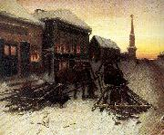 Perov, Vasily The Last Tavern at the City Gates oil painting picture wholesale