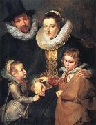Fan Brueghel the Elder and his Family (mk01)