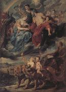 Peter Paul Rubens The Meeting of Marie de'Medici and Henry IV at Lyons (mk01) oil painting picture wholesale