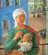 Petrov-Vodkin, Kozma The Year 1918 in Petrograd oil painting picture wholesale