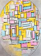 Piet Mondrian Composition with Oval in Color Planes II oil painting picture wholesale
