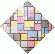 Piet Mondrian Composition with Grid VII oil painting picture wholesale