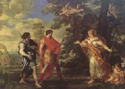 Pietro da Cortona Venus as a Huntress Appears to Aeneas (mk05) oil painting picture wholesale