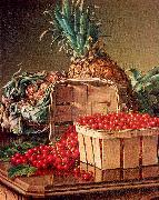 Prentice, Levi Wells Still Life with Pineapple and Basket of Currants oil painting picture wholesale