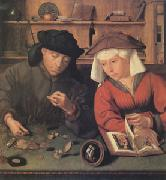 Quentin Massys The Moneylender and His Wife (mk05) oil painting picture wholesale
