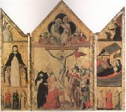 Shool of Bologna Triptych with the Crucifixion (mk05) oil painting picture wholesale