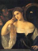 Titian A Woman at Her Toilet (mk05) oil painting artist