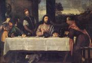 Titian The Supper at Emmaus (mk05) oil painting artist