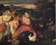 Titian The Virgin with the Rabit (mk05) oil painting artist