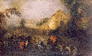 WATTEAU, Antoine The Burdens of War oil painting picture wholesale