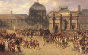 A Review Day under the Empire in the Cour de Carrousel near the Tuileries Palace (mk05)