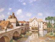 Alfred Sisley The Bridge of Moret (mk09) oil painting reproduction