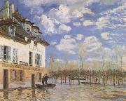 Alfred Sisley The Bark during the Flood,Port Marly (mk09) oil painting reproduction