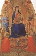 Madonna and Child Enthroned,with Angels and Saints (mk08)