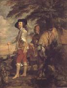 Anthony Van Dyck Portrait of charles i hunting (mk03) oil painting picture wholesale