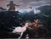 Arnold Bocklin The Waves (mk09) oil painting reproduction