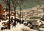 BRUEGEL, Pieter the Elder The Hunters in the Snwo (mk08) oil painting reproduction
