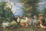 BRUEGHEL, Jan the Elder The Animals entering thte Ark (mk08) oil painting reproduction