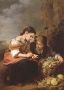 Bartolome Esteban Murillo The Little Fruit Seller (mk08) oil painting reproduction