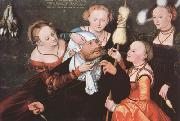 CRANACH, Lucas the Elder Hercules and Omphale (mk08) oil painting reproduction