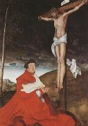 Cardinal Albrecht of Branden-burg before the Crucified Christ (mk08)