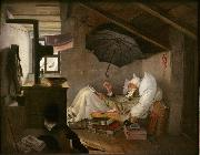 Carl Spitzweg The Poor Poet (mk09) oil painting picture wholesale