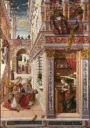 Carlo Crivelli Annunciation whit St Emidius (mk08) oil painting reproduction