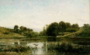 Charles-Francois Daubigny Landscape at Gylieu (mk09) oil painting picture wholesale