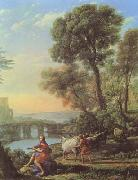 Claude Lorrain Landscape with Apollo and Mercury (mk08) oil painting reproduction