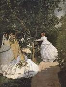 Claude Monet Women in the Garden (mk09) oil painting reproduction