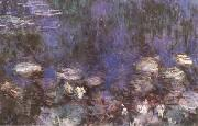 Claude Monet Waterlilies(Green Reflections) (mk09) oil painting reproduction