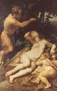 Correggio Zeus and Antiope (mk08) oil painting reproduction