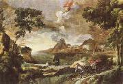 DUGHET, Gaspard Landscape with St Augustine and the Mystery of the Trinity (mk08)