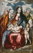 El Greco The Holy Family with St Anne and the young St John Baptist (mk08) oil painting picture wholesale