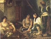 Eugene Delacroix Algerian Women in Their Appartments (mk05) oil painting picture wholesale