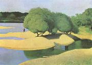 Felix  Vallotton Sandbanks on the Loire (mk09) oil painting artist