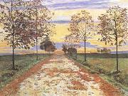 Ferdinand Hodler Autumn Evening (mk09) oil painting picture wholesale