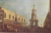 The Doge Takes Part in the Festivities in the Piazzetta on Shrove Tuesday (mk05)