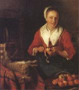 Gabriel Metsu The Busy Cook (nk05) oil painting picture wholesale