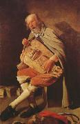 Georges de La Tour Hurdy-Gurdy Player (mk08) oil painting picture wholesale