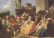 Giovanni Battista Tiepolo Carnival Scene or the Minuet (mk05) oil painting picture wholesale