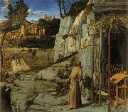Giovanni Bellini St Francis in the Wilderness (mk08) oil painting artist