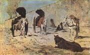 Giovanni Segantini Roman Carts (mk09) oil painting
