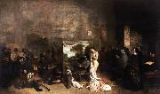 Gustave Courbet The Painter's Studio A Real Allegory (mk09) oil painting picture wholesale